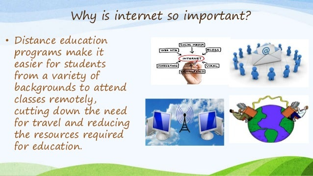 HOW IMPORTANT IS THE INTERNET