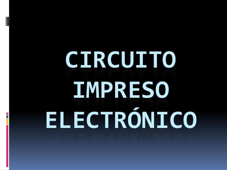 circuito impreso electrónico<br />