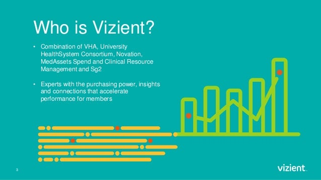 3 Who is Vizient? • Combination of VHA, University HealthSystem Consortium, Novation, MedAssets Spend and Clinical Resourc...