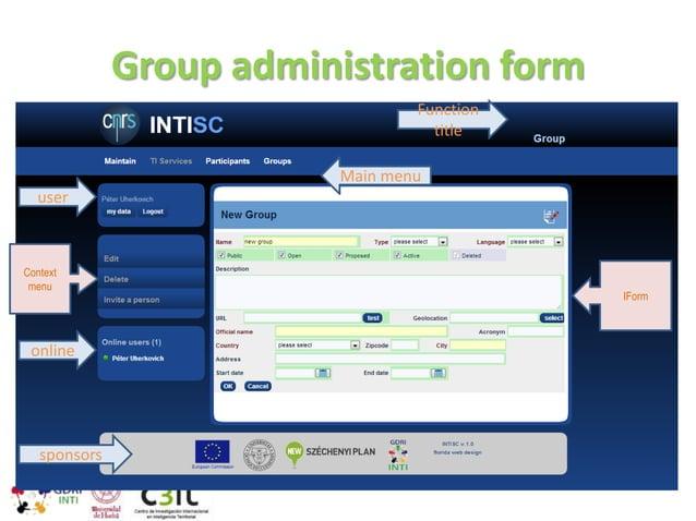 User invitation form