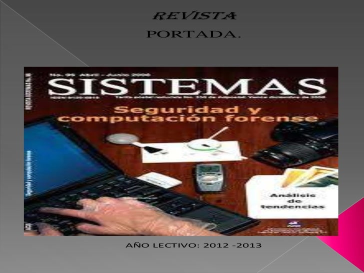 REVISTA   PORTADA.AÑO LECTIVO: 2012 -2013
