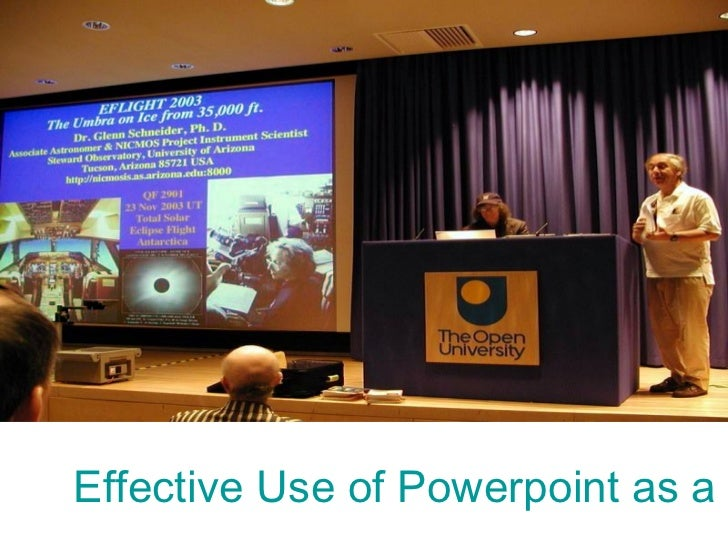 Effective Use of Powerpoint as a