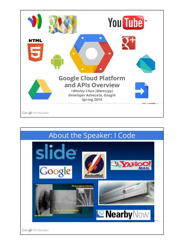 Google Cloud Platform & APIs Overview