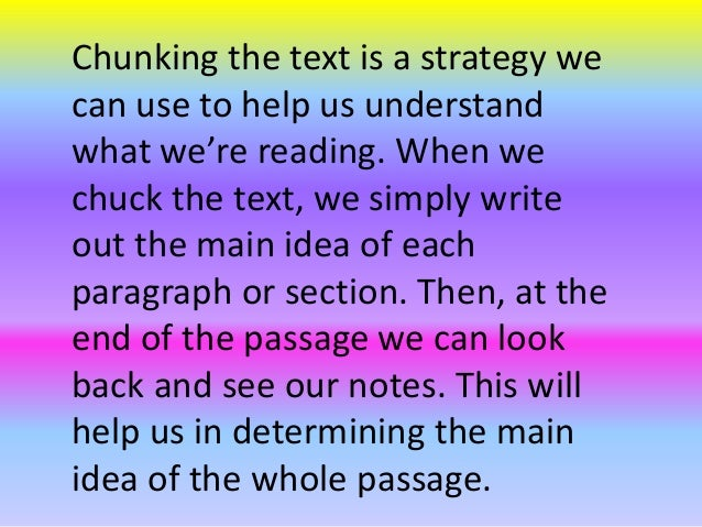 Chunking the Text