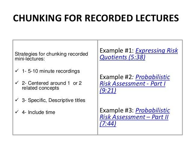 Chunking slides