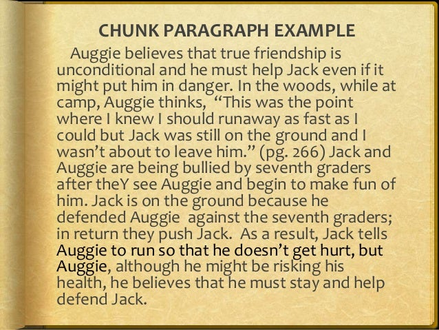 Chunk Paragraph Template And Examples