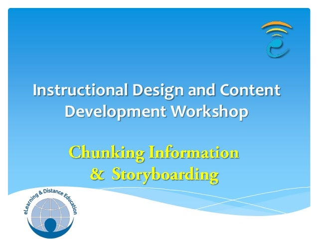 Instructional Design and Content     Development Workshop
