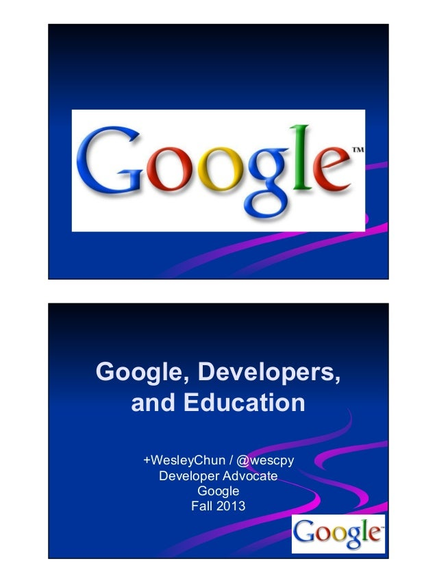 Google, Developers, Education, Python, and the Cloud