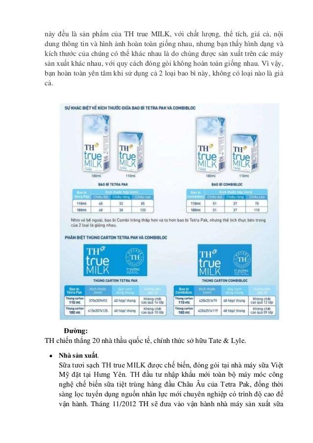 này đều là sản phẩm của TH true MILK, với chất lượng, thể tích, giá cả, nội dung thông tin và hình ảnh hoàn toàn giống nha...