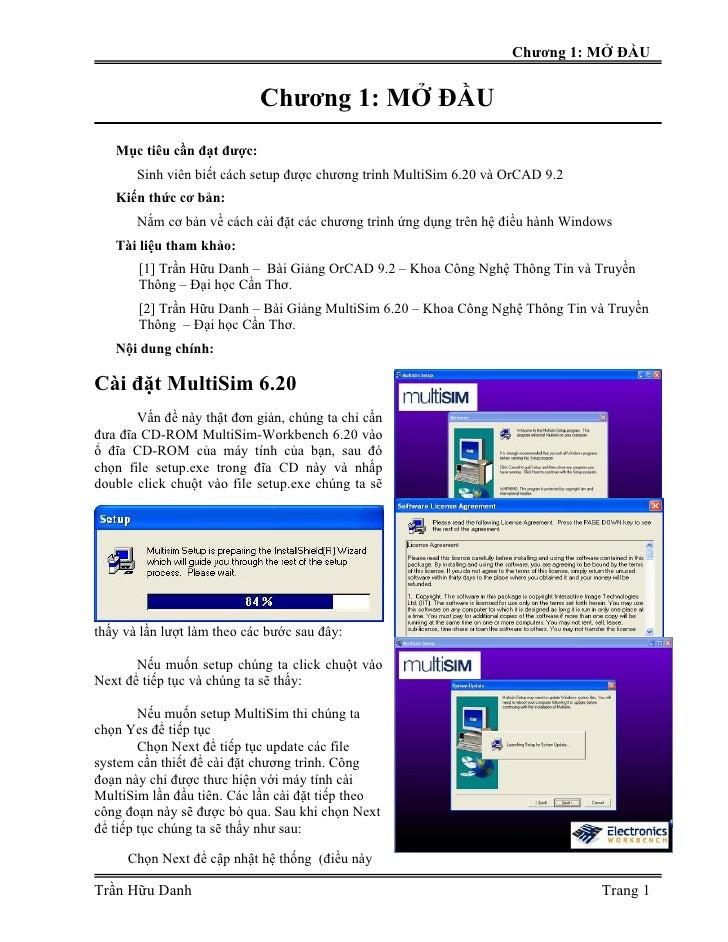 Chương 1: MỞ ĐẦU                            Chương 1: MỞ ĐẦU   Mục tiêu cần đạt được:       Sinh viên biết cách setup được...