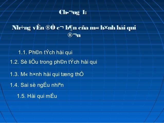 Ch¬ng 1:Nh÷ng vÊn ®Ò c¬ b¶n cña m« h×nh håi qui                 ®¬n   1.1. Ph©n tÝch håi qui1.2. Sè liÖu trong ph©n tÝch ...
