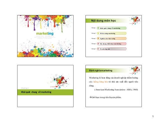 Nội dung môn học Chương 1  Chương 2  Môi trường marketing  Chương 3  Nghiên cứu thị trường  Chương 4  Xây dựng chiến lược ...