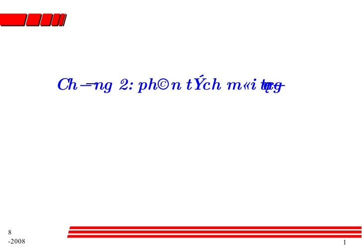 Ch¬ng 2: ph©n tÝch m«i trêng