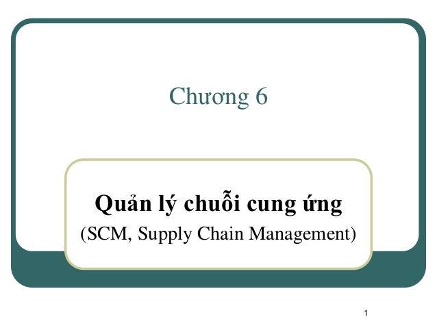 1 Chương 6 Quản lý chuỗi cung ứng (SCM, Supply Chain Management)