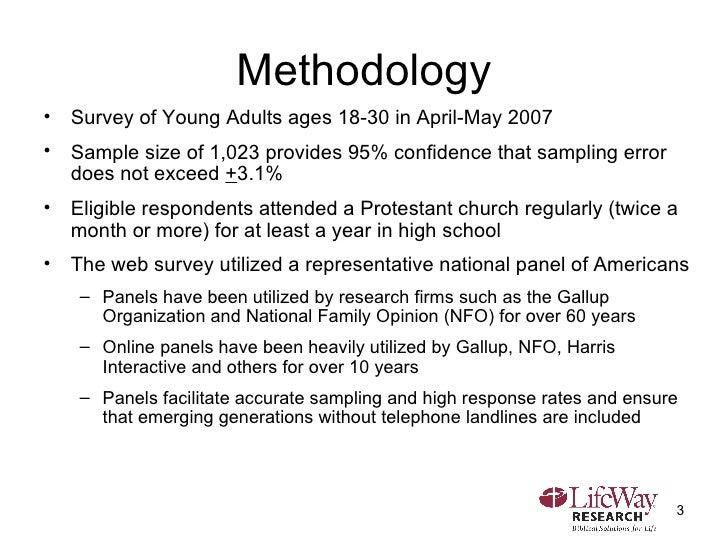 Methodology <ul><li>Survey of Young Adults ages 18-30 in April-May 2007 </li></ul><ul><li>Sample size of 1,023 provides 95...