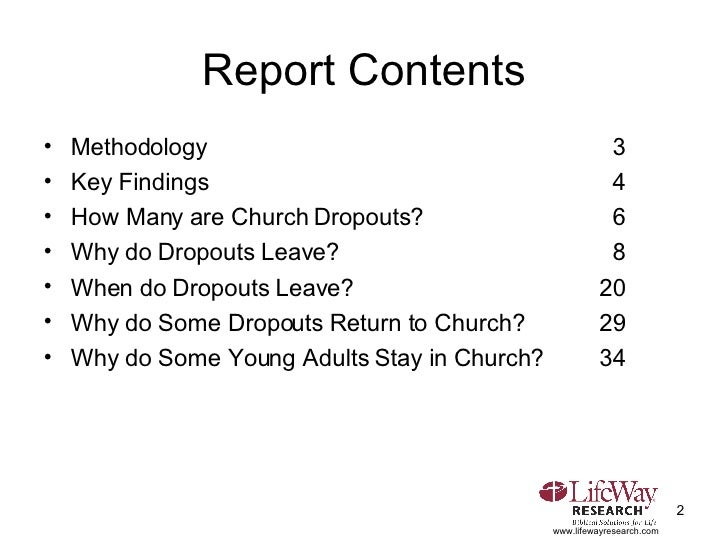 Church Dropouts: How Many Leave Church And Why Slide 2