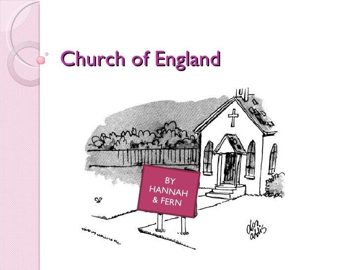 Church of England BY HANNAH & FERN