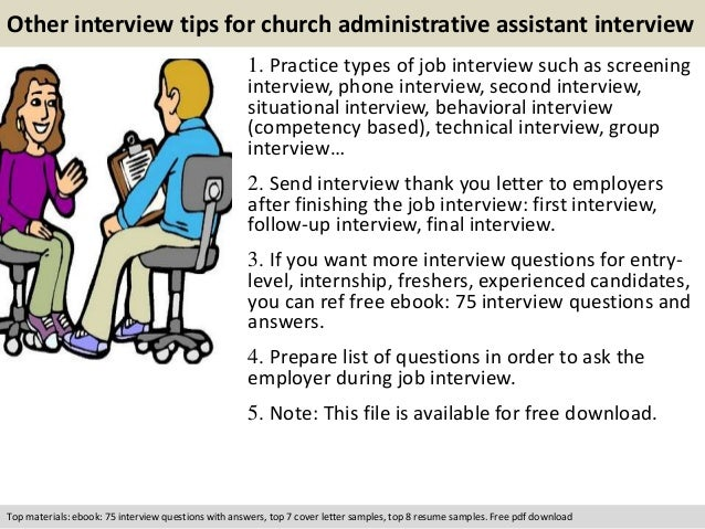 free pdf download 11 other interview tips for church administrative assistant