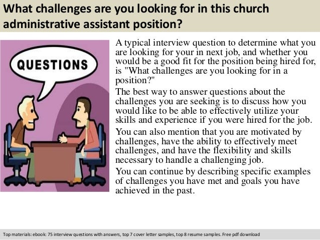free pdf download 2 what challenges are you looking for in this church administrative assistant