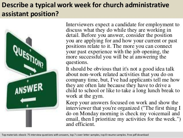 free pdf download 3 describe a typical work week for church administrative assistant