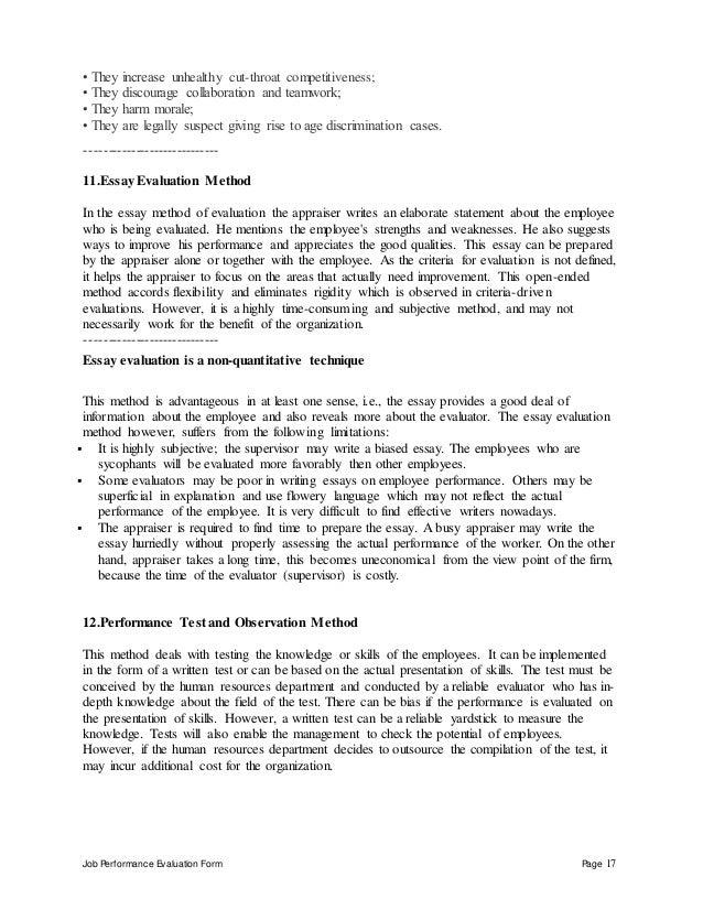 Church communications director performance appraisal