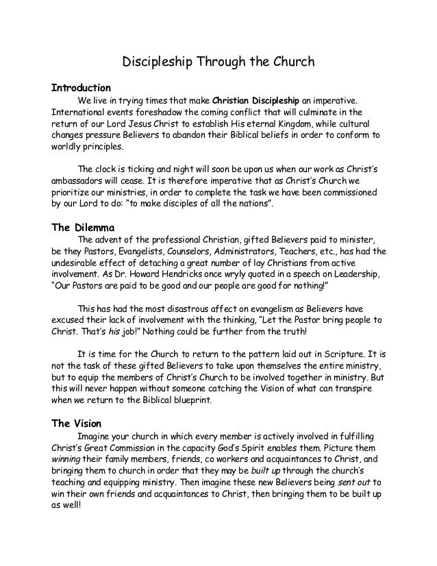 Church discipleship discipleship through the church introduction we live in trying times that make christian discipleship an imperative malvernweather Images