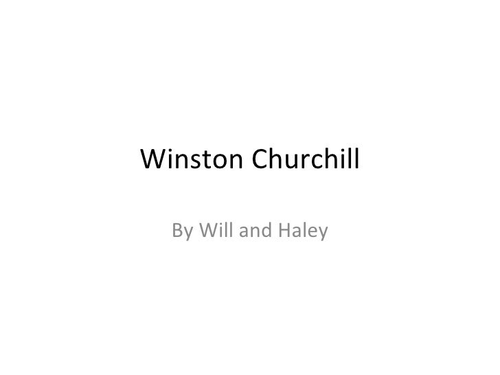 Winston Churchill By Will and Haley