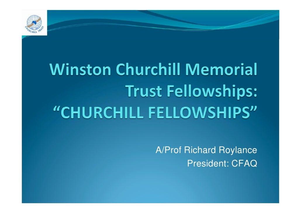 A/Prof Richard Roylance        President: CFAQ