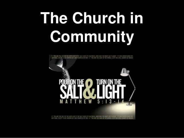 The Church inCommunity