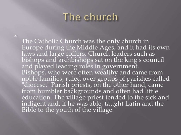 an analysis of the church in the middle ages Why was the church important in the middle ages why didn't barbarians ban church in the dark ages first: i'm restricting my answer to europe because of the way the question is phrased middle ages and dark ages (which aren't quite the same t.