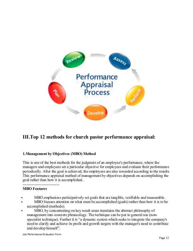 Job Performance Evaluation Form Page 11; 12.