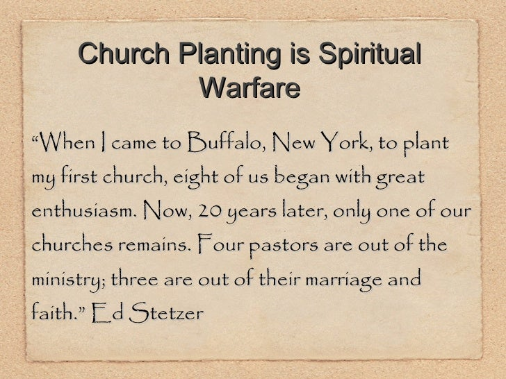 """<ul><li>"""" When I came to Buffalo, New York, to plant my first church, eight of us began with great enthusiasm. Now, 20 yea..."""