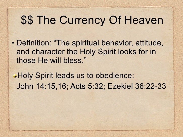 """<ul><li>Definition: """"The spiritual behavior, attitude, and character the Holy Spirit looks for in those He will bless."""" </..."""