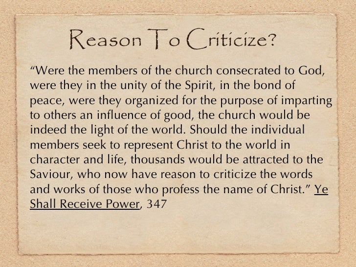 """<ul><li>"""" Were the members of the church consecrated to God, were they in the unity of the Spirit, in the bond of peace, w..."""