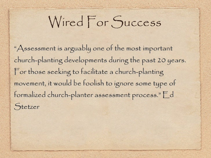 """<ul><li>"""" Assessment is arguably one of the most important church-planting developments during the past 20 years. For thos..."""