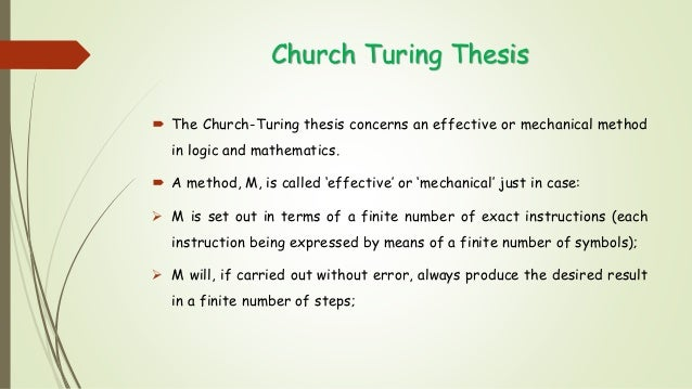Turing thesis