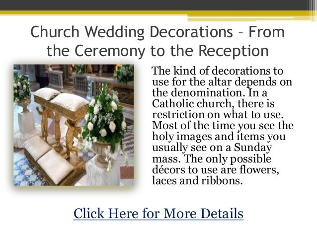 Church wedding decorations from the ceremony to junglespirit Images