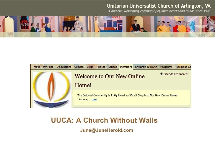 UUCA: A Church Without Walls [email_address]