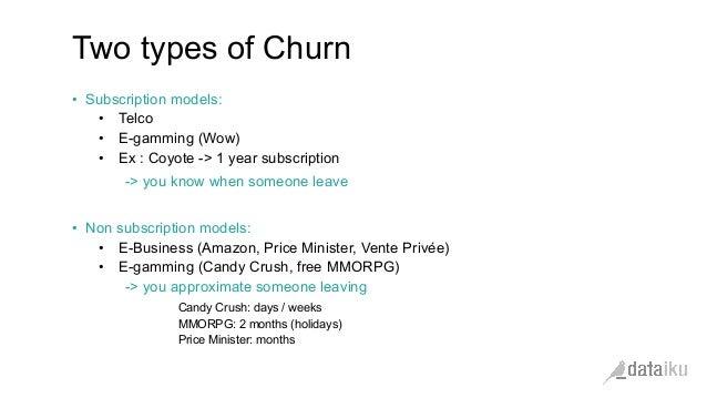 Churn prediction data modeling