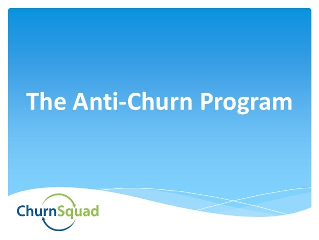Churnsquad Services Achieving Negative Churn Via Churn