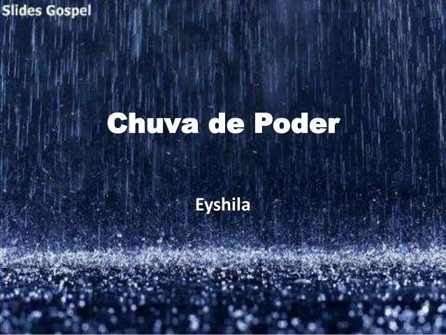 Chuva de Poder Eyshila