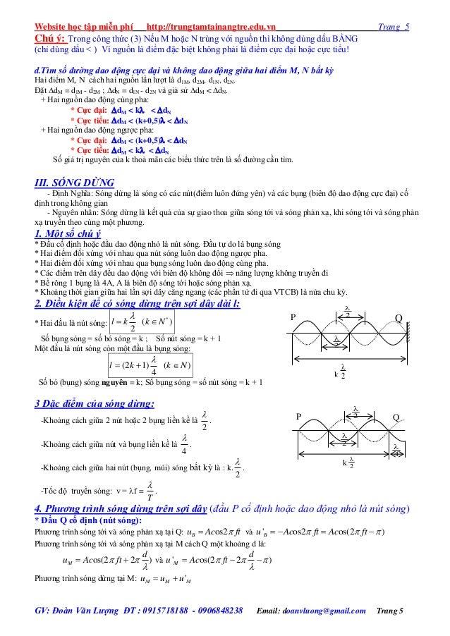 Website học tập miễn phí http://trungtamtainangtre.edu.vn Trang 5 GV: Đoàn Văn Lượng ĐT : 0915718188 - 0906848238 Email: d...