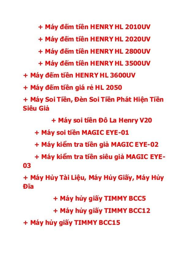 + Máy đếm tiền HENRY HL 2010UV + Máy đếm tiền HENRY HL 2020UV + Máy đếm tiền HENRY HL 2800UV + Máy đếm tiền HENRY HL 3500U...