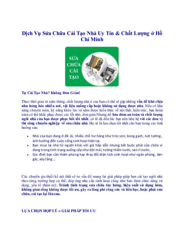 Chỗ nào cải tạo nhà Quận 5 Hồ Chí Minh - Chỗ nào cải tạo nhà Quận 8 Dịch Vụ Sửa Chữa Cải Tạo Nhà Uy Tín & Chất Lượng ở ...