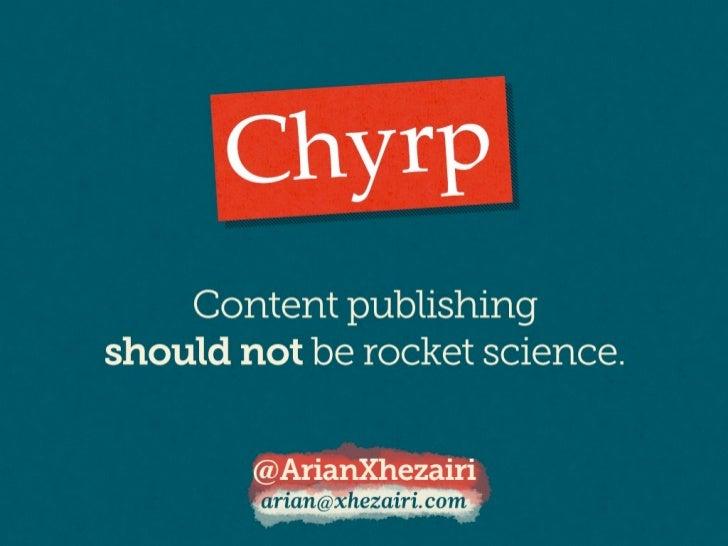 Chyrp Slides - Software Freedom Kosova 2011