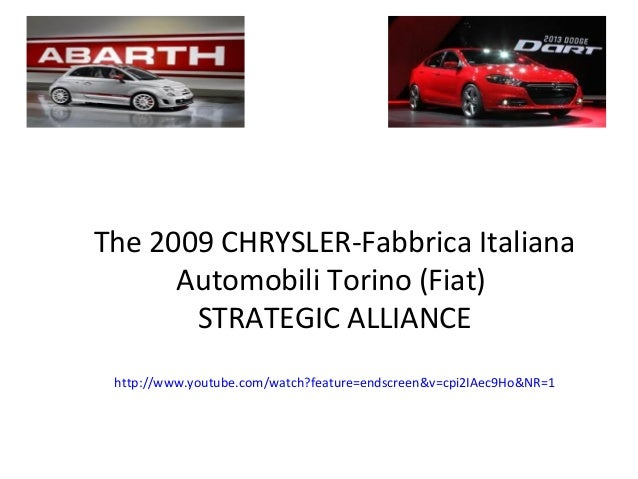 Chrysler and fiat alliance