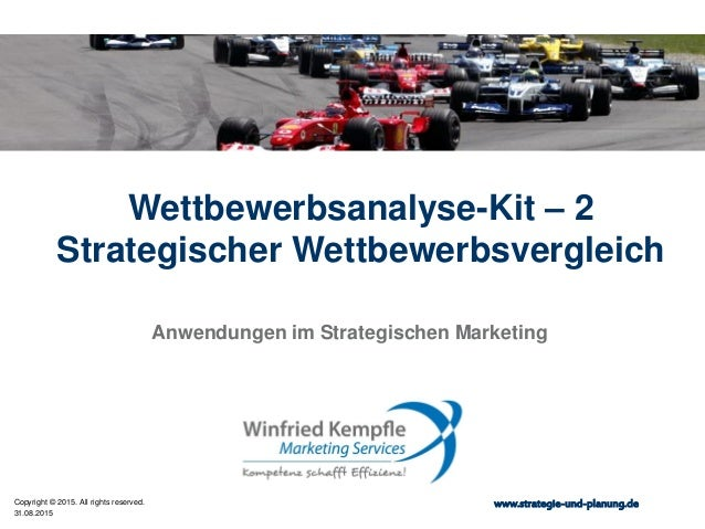 31.08.2015 Copyright © 2015. All rights reserved. www.strategie-und-planung.de Wettbewerbsanalyse-Kit – 2 Strategischer We...