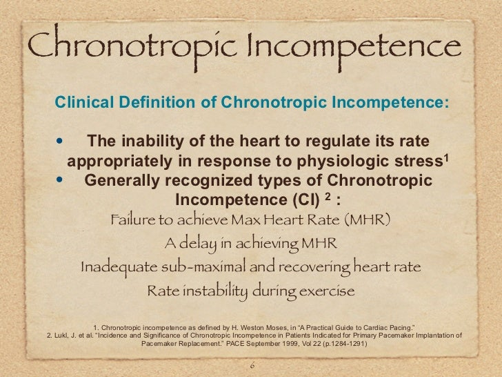 chronotropic incompetence
