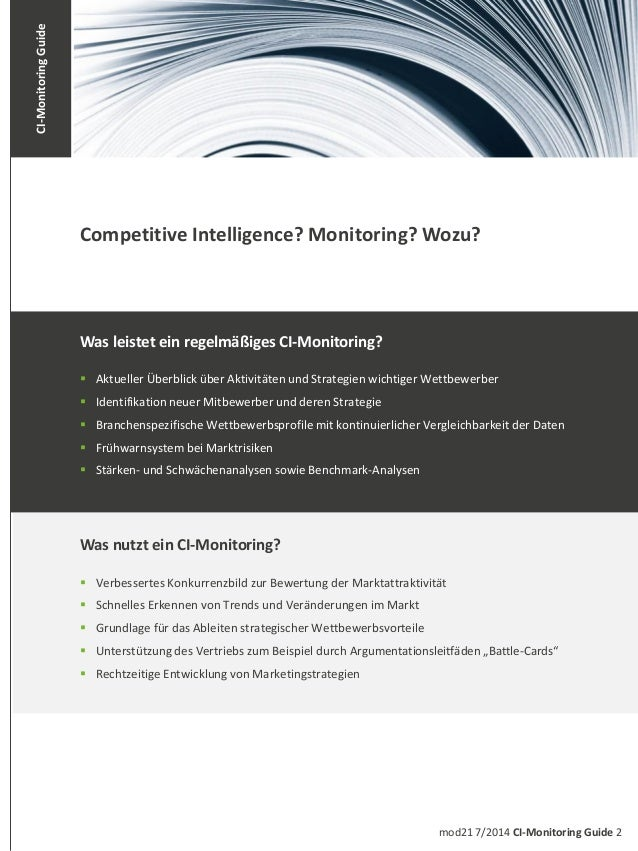 CI-Monitoring Guide Slide 2