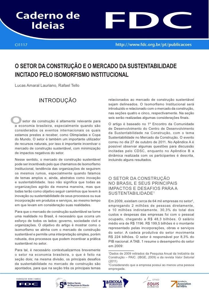 CI1117Gestão estratéGica do suprimento e o impacto no      desempenho das       empresas Brasileiraso setor da construção ...